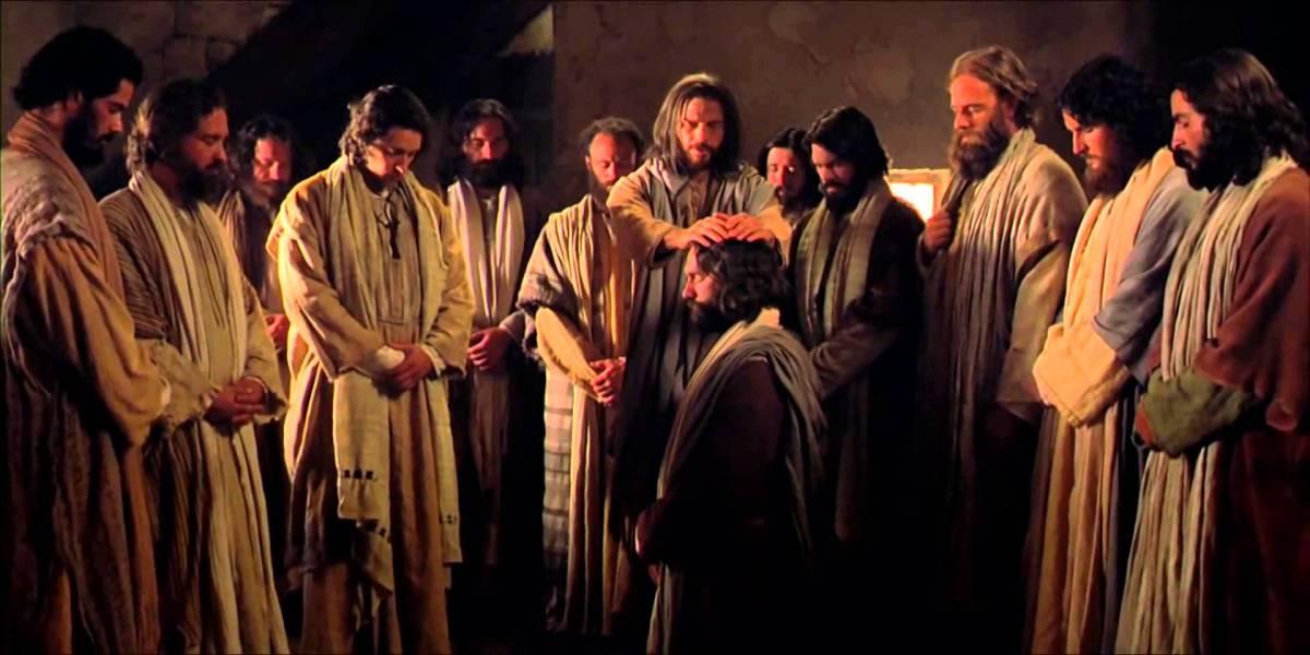 Jesus and 12 apostles