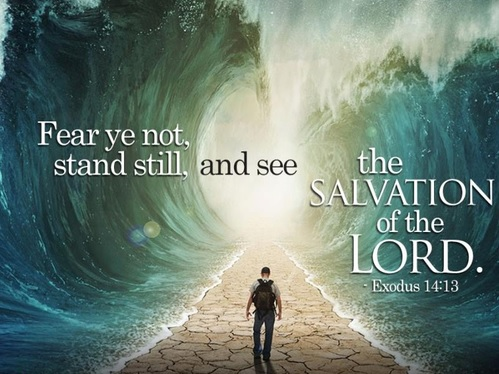 """Stand still and see the salvation of the Lord"" (Exodus 14:13-15)"